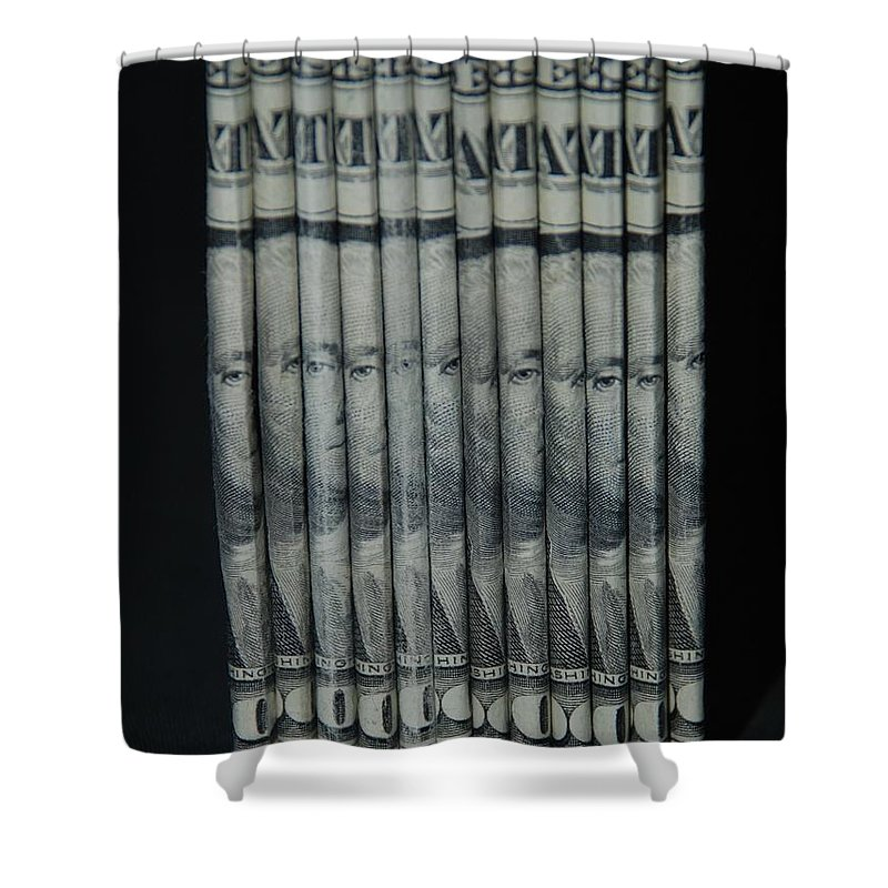 Money Shower Curtain featuring the photograph Stripper Stack by Rob Hans