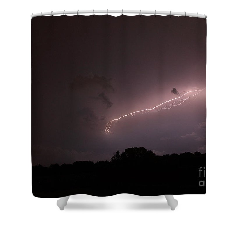 Lightning Shower Curtain featuring the photograph Strong Arm by Amanda Barcon