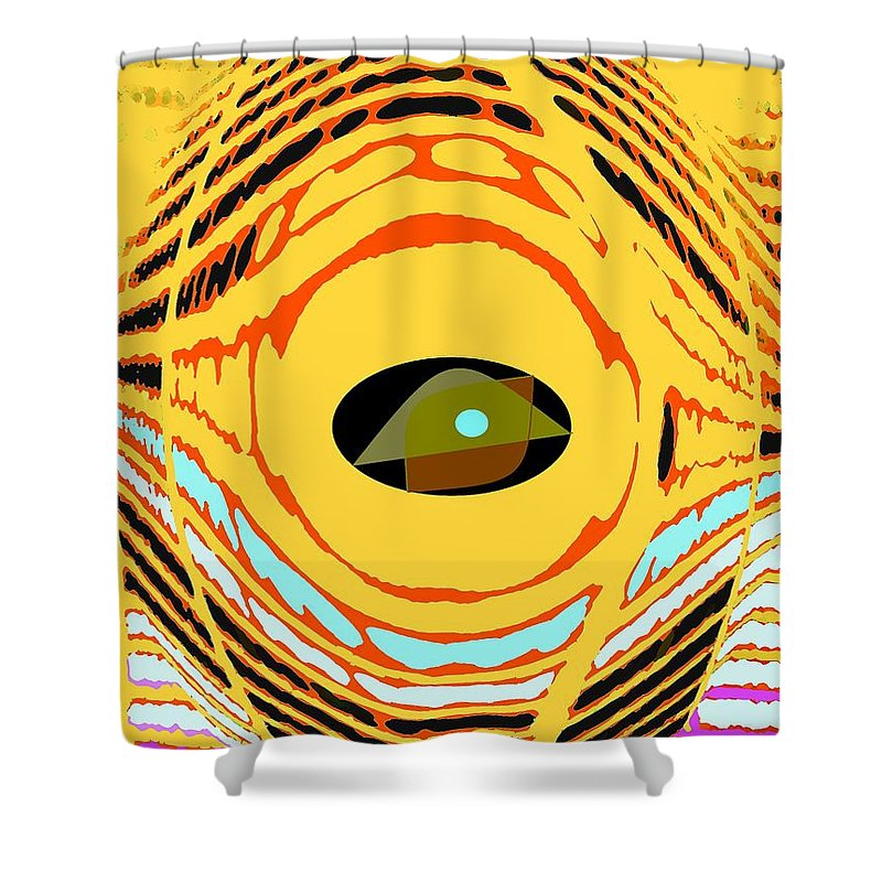 Yellow Shower Curtain featuring the photograph Structure In Perspective by Ian MacDonald
