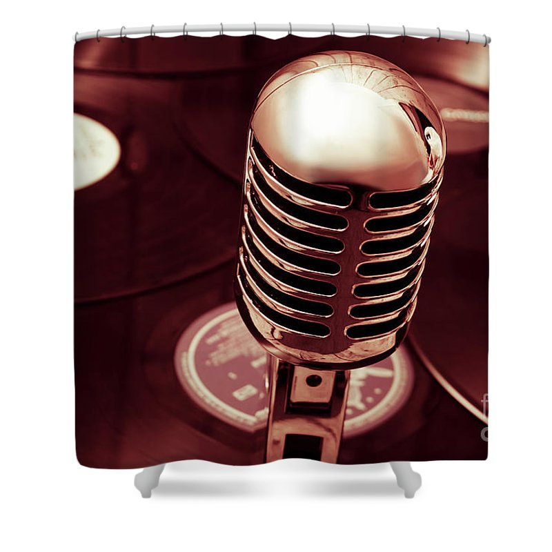 Mic Shower Curtain featuring the photograph Studio Of Old by Jorgo Photography - Wall Art Gallery