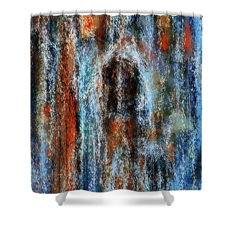 Shower Curtain featuring the digital art Stump Revealed by David Lane