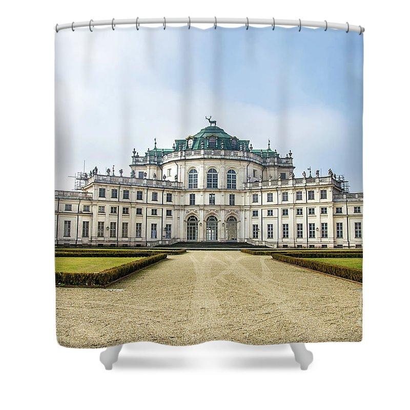 Alfieri Shower Curtain featuring the photograph Stupinigi Palace - Turin - Piedmont Italy Region by Luca Lorenzelli