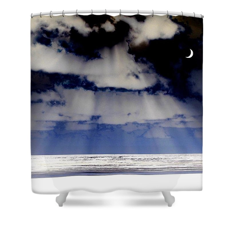 Surreal Shower Curtain featuring the digital art Sub Zero by Will Borden