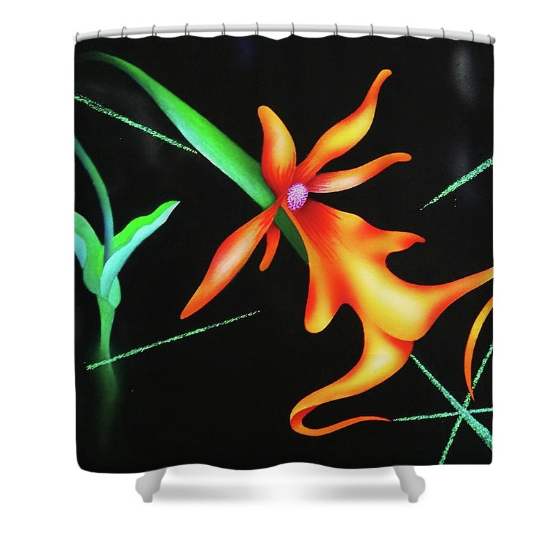 Orchid Shower Curtain featuring the painting Sublime by Heather Crowther