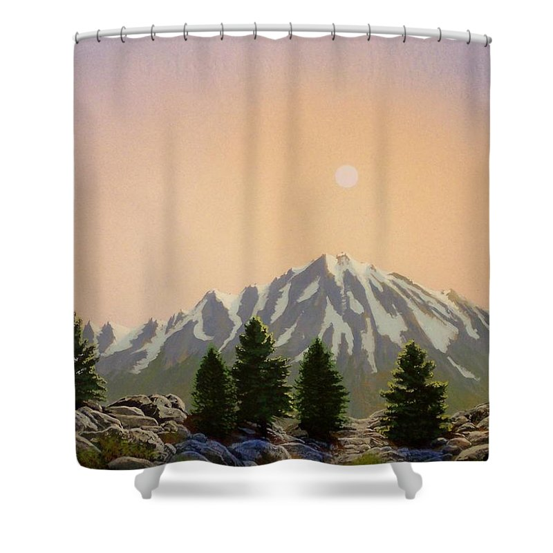 Landscape Shower Curtain featuring the painting Sublime Sierra Light by Frank Wilson