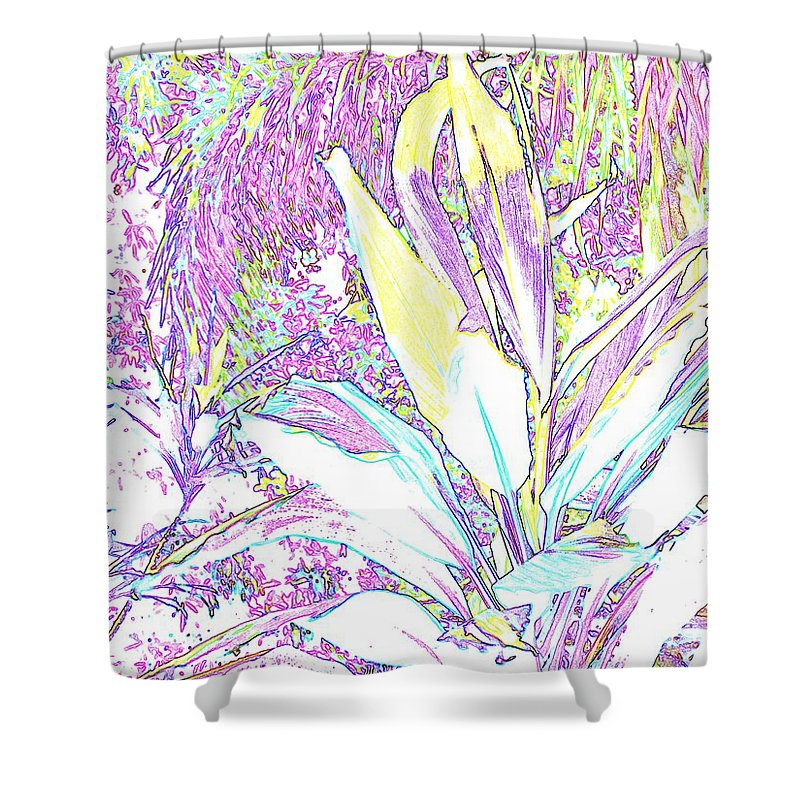 Abstract Shower Curtain featuring the photograph Subtle Leaf by Ian MacDonald