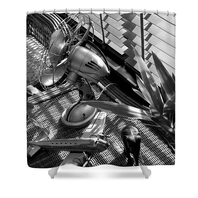 Still Life Shower Curtain featuring the photograph Suburban Safari by Charles Stuart