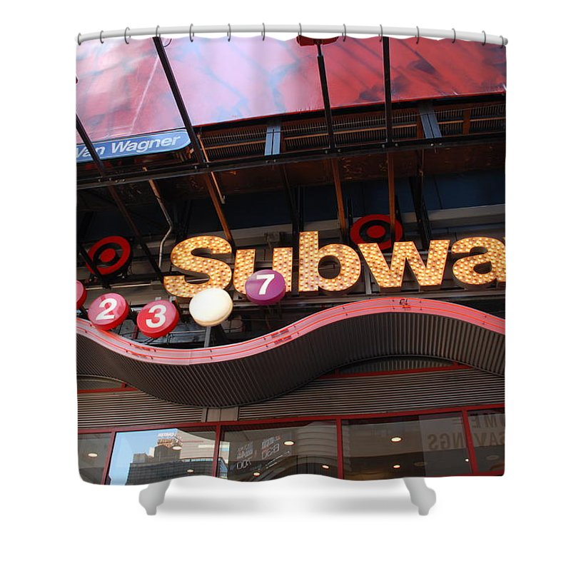 Neon Shower Curtain featuring the photograph Subway by Rob Hans