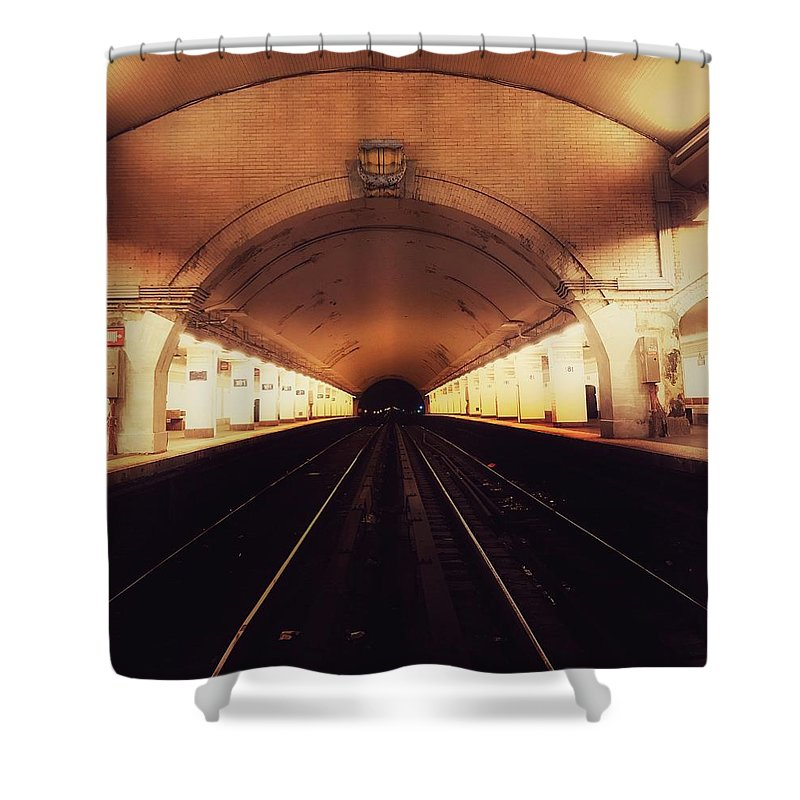 Subway Station Shower Curtain featuring the photograph Subways by Robert Villano