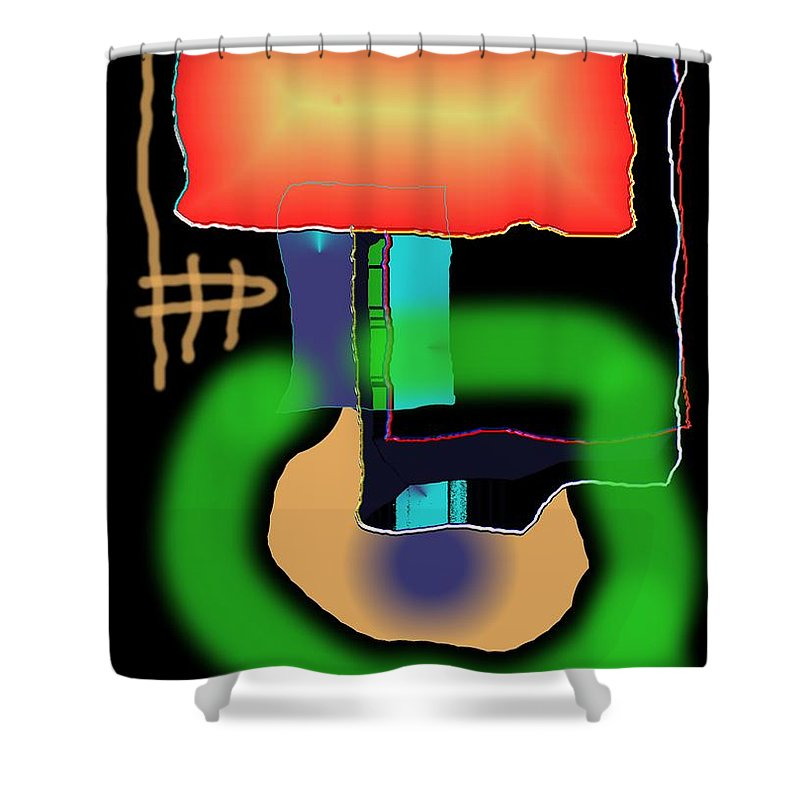 Mouse Shower Curtain featuring the digital art Suddenclicks by Helmut Rottler