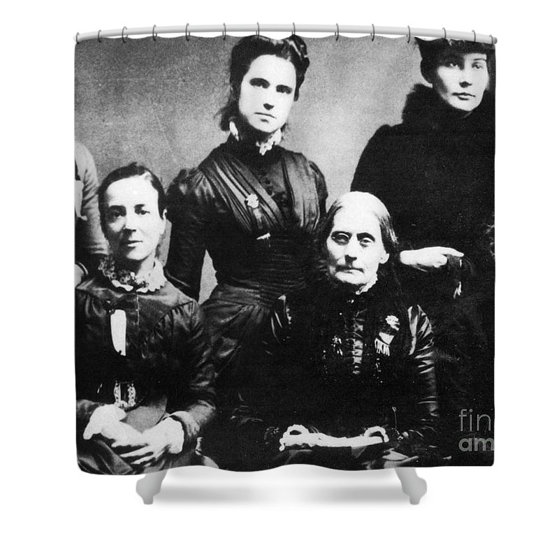 1888 Shower Curtain featuring the photograph Suffragettes, 1888 by Granger