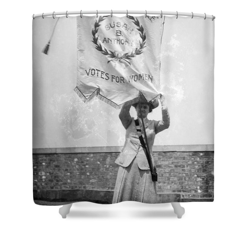 1912 Shower Curtain featuring the photograph Suffragist, C1912 by Granger