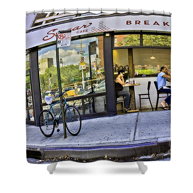 Breakfast Shower Curtain featuring the photograph Sugar Breakfast by Madeline Ellis