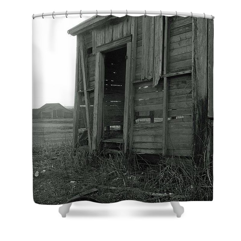 Louisiana Shower Curtain featuring the photograph Sugar Cane Shack by Leigh Ann Raab