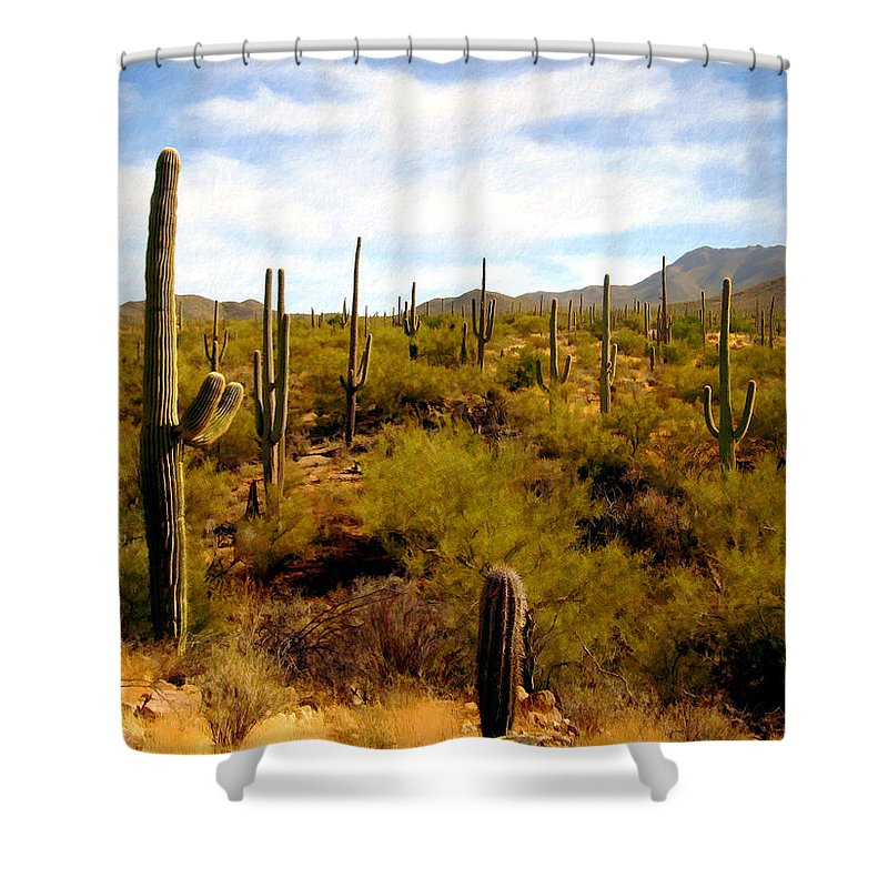 Suguaro Cactus Shower Curtain featuring the photograph Suguro National Park by Kurt Van Wagner