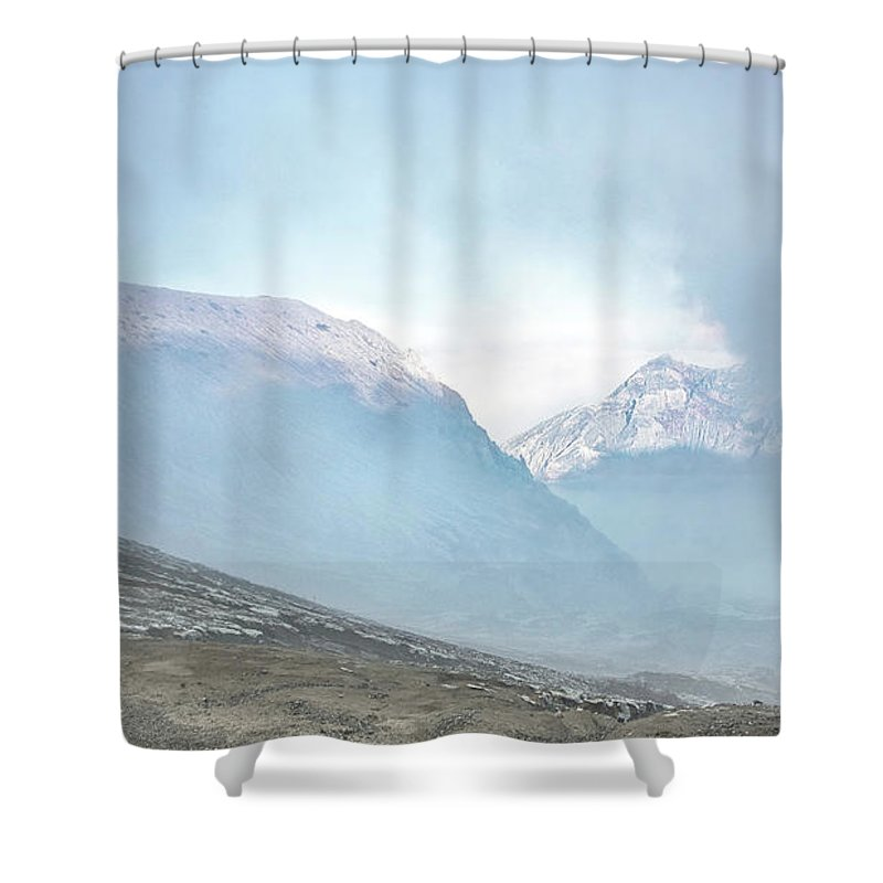 Landscape Shower Curtain featuring the photograph Highlands by Handik Sudarsana