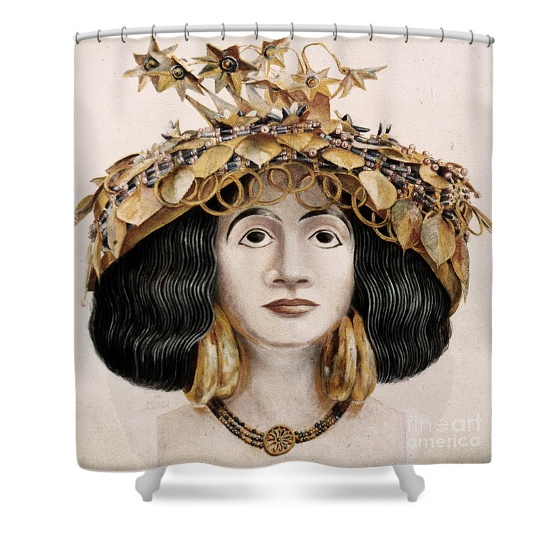 2500 B.c. Shower Curtain featuring the photograph Sumerian Headdress by Granger