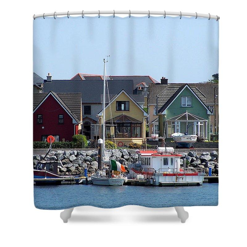 Irish Shower Curtain featuring the photograph Summer Cottages Dingle Ireland by Teresa Mucha