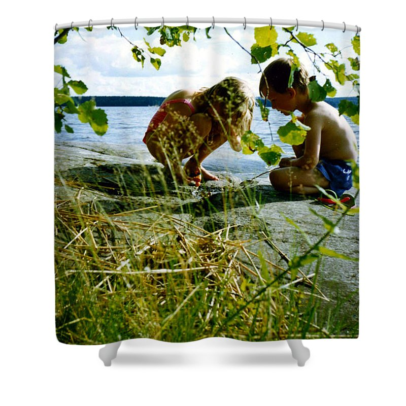 Kids Shower Curtain featuring the photograph Summer Fun In Finland by Merja Waters