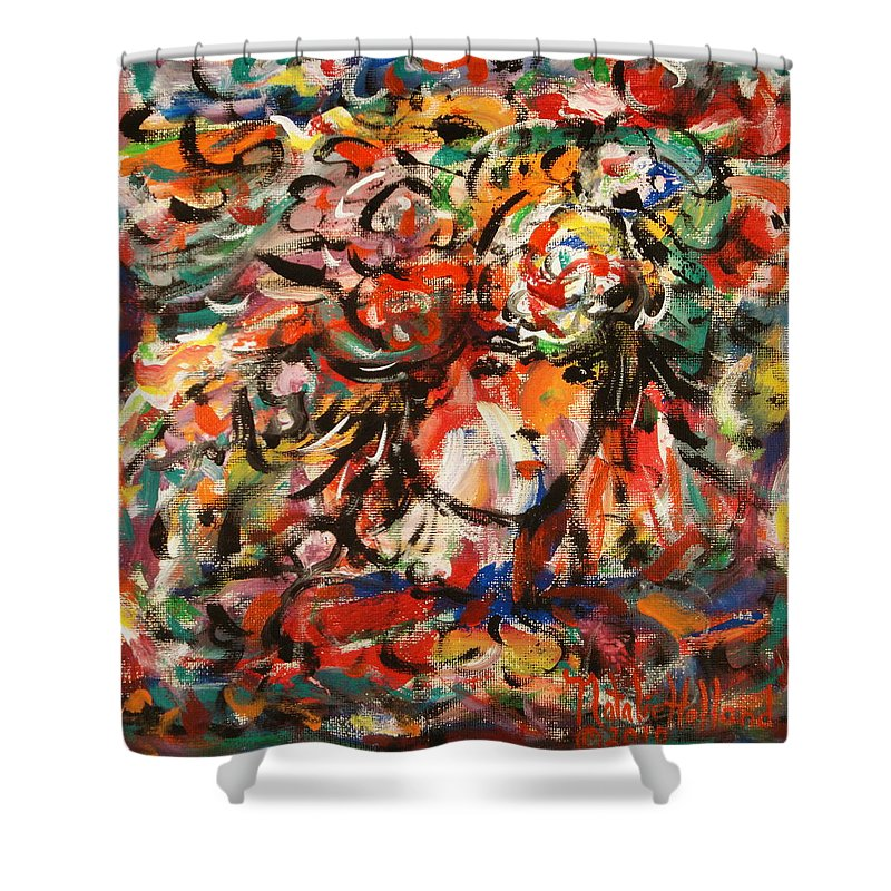 Art Around The World Project Shower Curtain featuring the painting Summer Girl by Natalie Holland