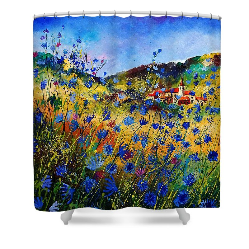 Flowers Shower Curtain featuring the painting Summer Glory by Pol Ledent