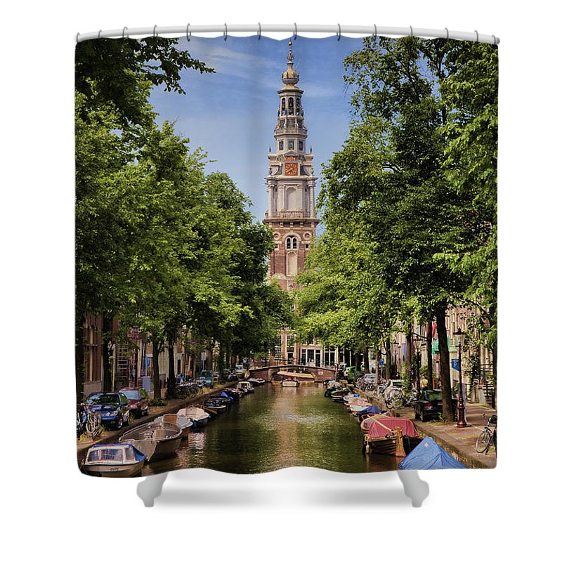 Shower Curtain featuring the photograph Summer In Amsterdam-2 by Casper Cammeraat