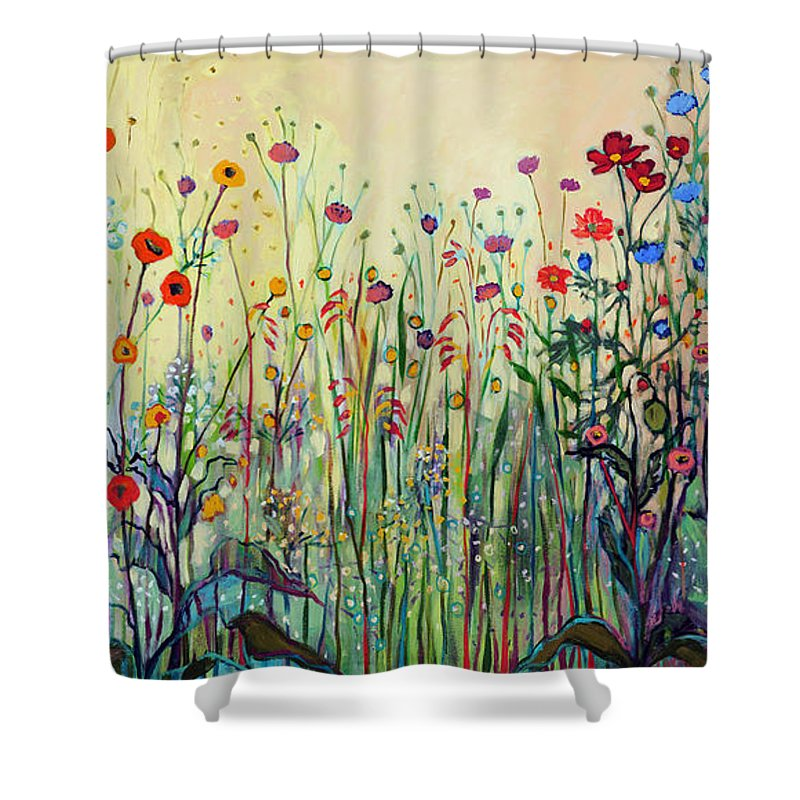 Floral Shower Curtain featuring the painting Summer Joy by Jennifer Lommers