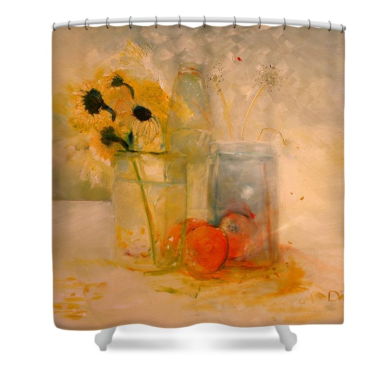 Daisey Shower Curtain featuring the painting Summer Light by Jack Diamond