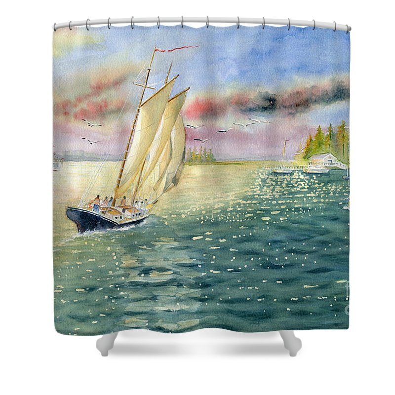 Summer Shower Curtain featuring the painting Summer Memories by Melly Terpening