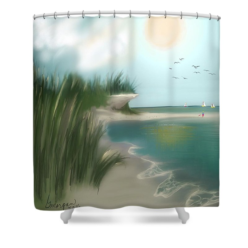 Shower Curtain featuring the digital art Summer Memory by Gerry Morgan
