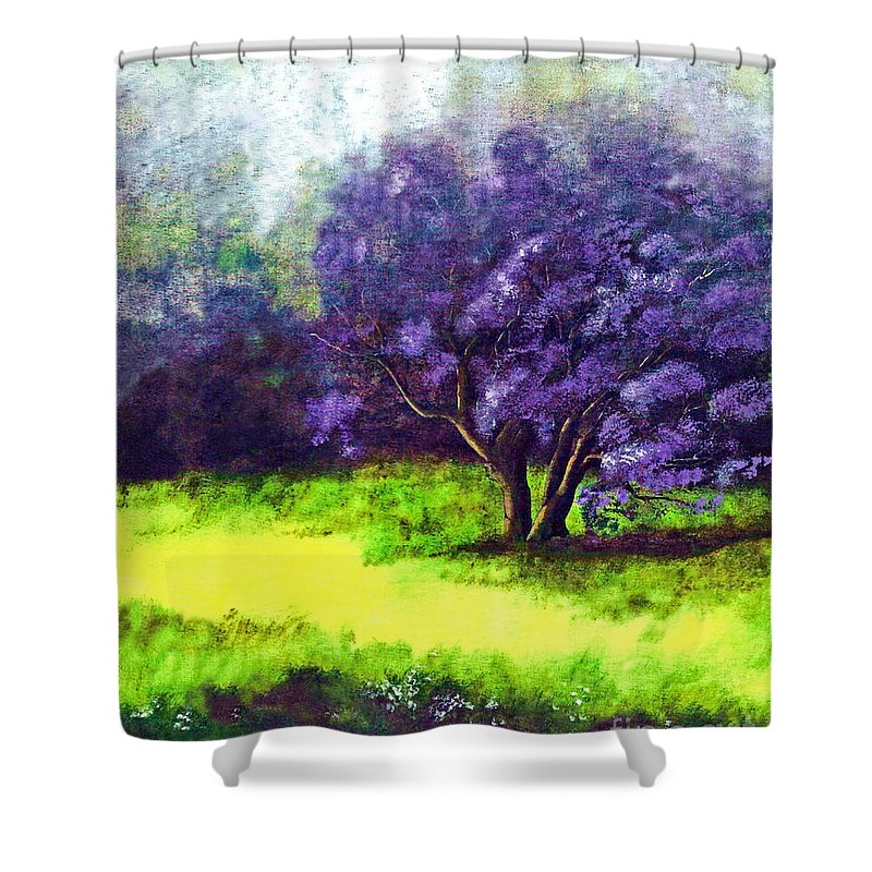 Fine Art Print Shower Curtain featuring the painting Summer Mist by Patricia Griffin Brett