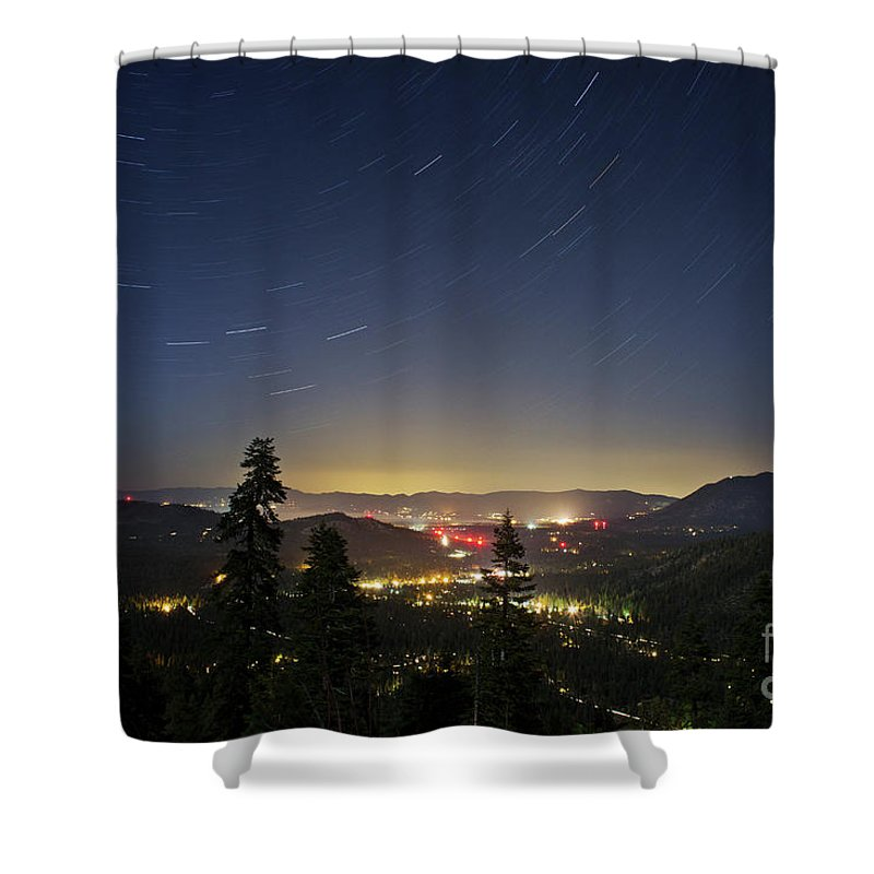 Forest Shower Curtain featuring the photograph Summer Night South Lake Tahoe by Su Thao