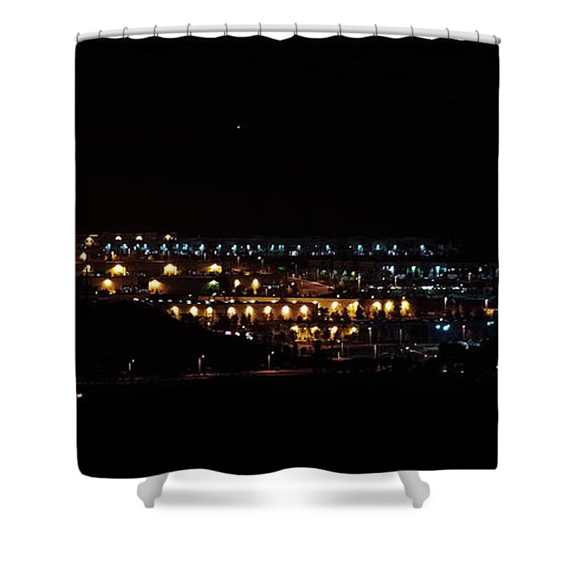 Clay Shower Curtain featuring the photograph Summer Nights by Clayton Bruster