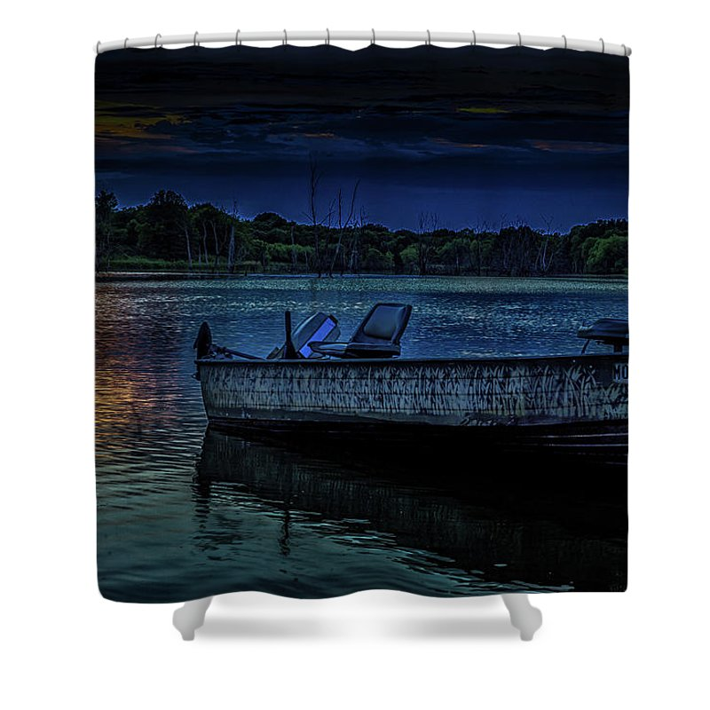 Lake Shower Curtain featuring the photograph Summer Nights by Scott McKay