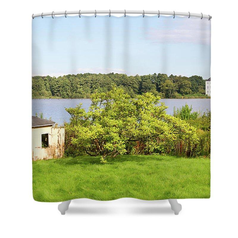 Grasten Shower Curtain featuring the photograph Summer Palace 1 by Bernard Barcos