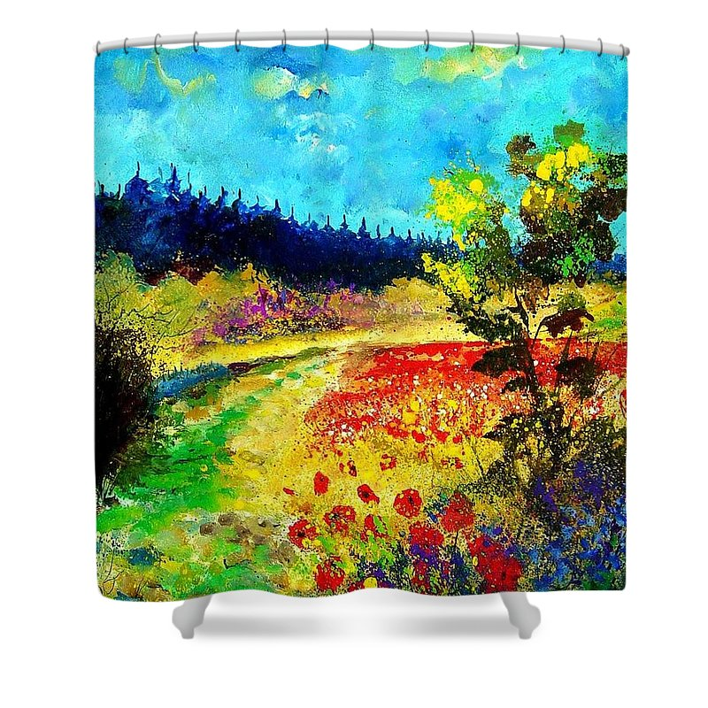 Flowers Shower Curtain featuring the painting Summer by Pol Ledent