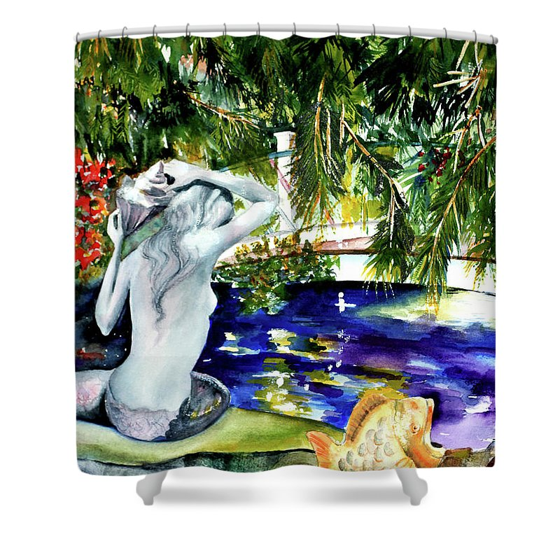Mermaid Shower Curtain featuring the painting Summer Splendor by Phyllis London