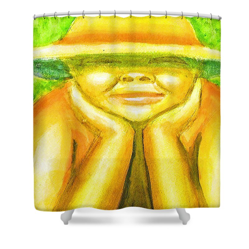 Shower Curtain featuring the painting Summer Sun by Jan Gilmore