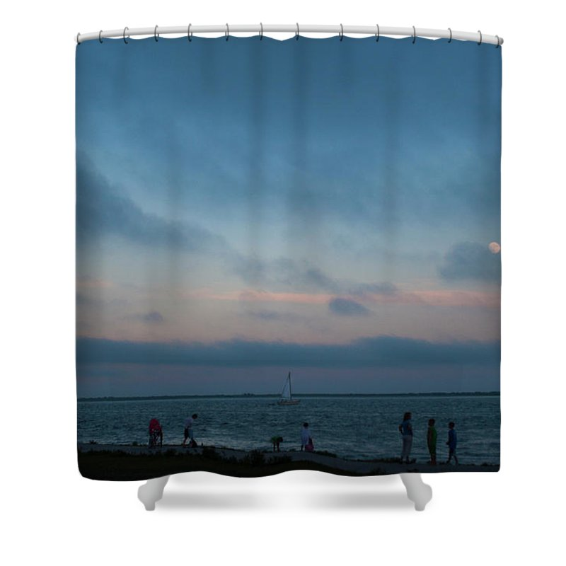 Bay Shower Curtain featuring the photograph Summer's Eve At The Bay. by Steve Gravano