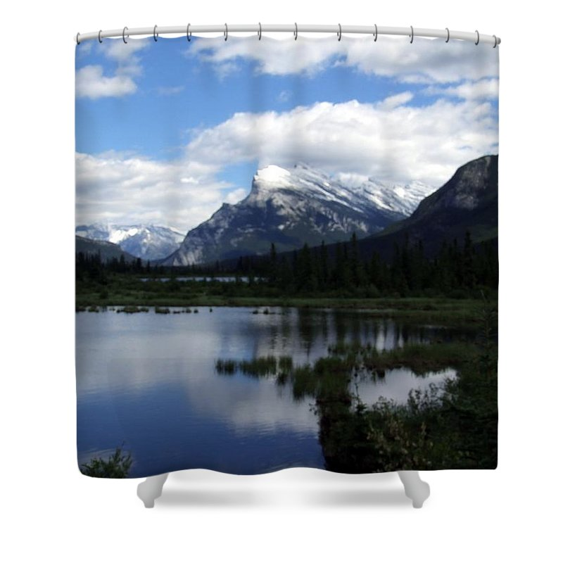 Landscape Shower Curtain featuring the photograph Summertime In Vermillion Lakes by Tiffany Vest