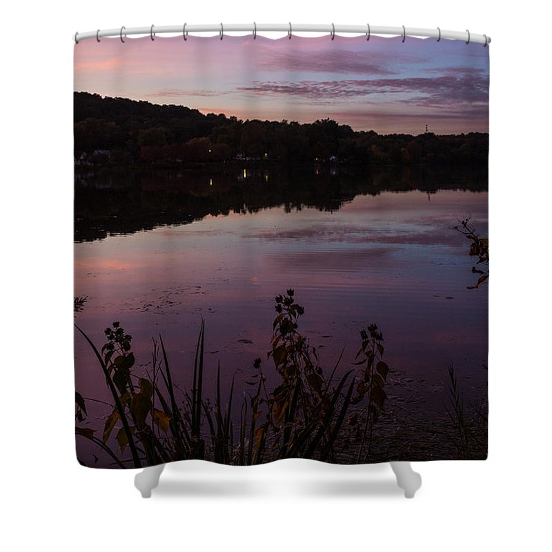 Summit Lake Shower Curtain featuring the photograph Summit Lake Sunset II by Tim Fitzwater