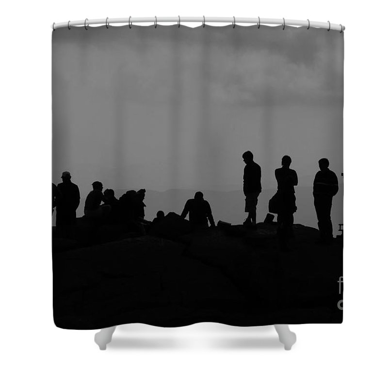 Summit Shower Curtain featuring the photograph Summit People by David Lee Thompson