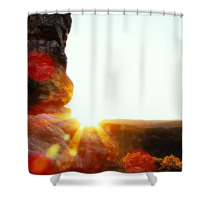 Evening Shower Curtain featuring the photograph Sun by Jacob Carden