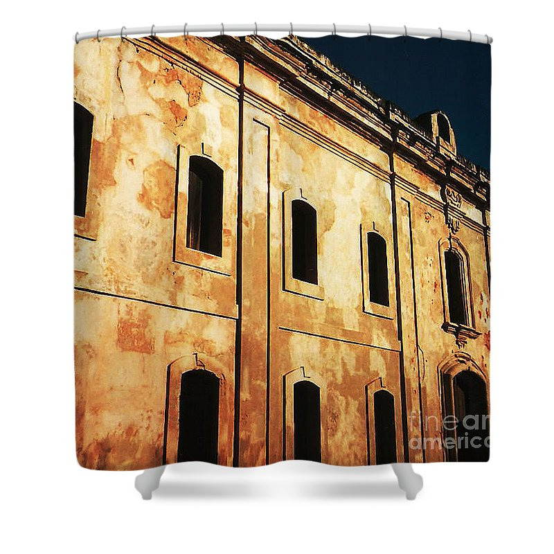 Buildings Shower Curtain featuring the photograph Sun Kissed by Jeff Barrett