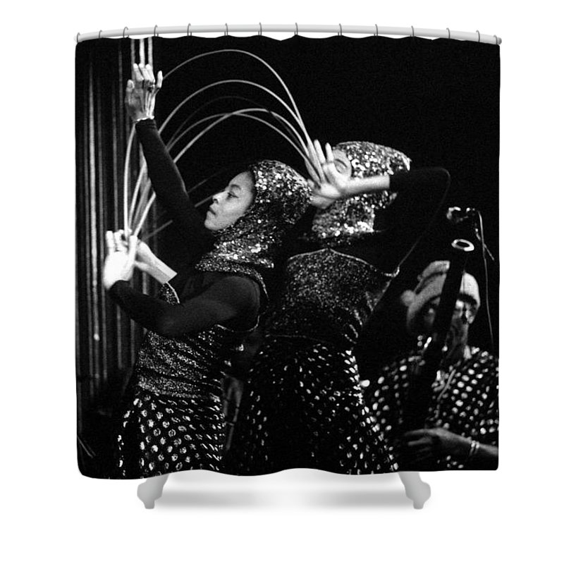 Sun Ra Shower Curtain featuring the photograph Sun Ra Arkestra And Dancers by Lee Santa