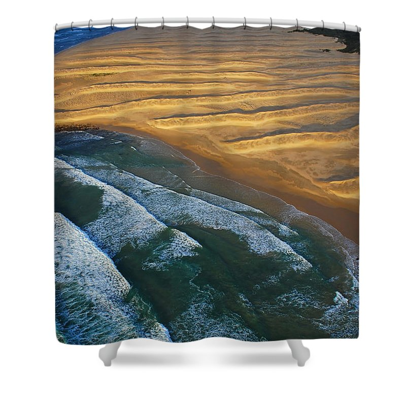 Coast Shower Curtain featuring the photograph Sun Rise Coast by Skip Hunt