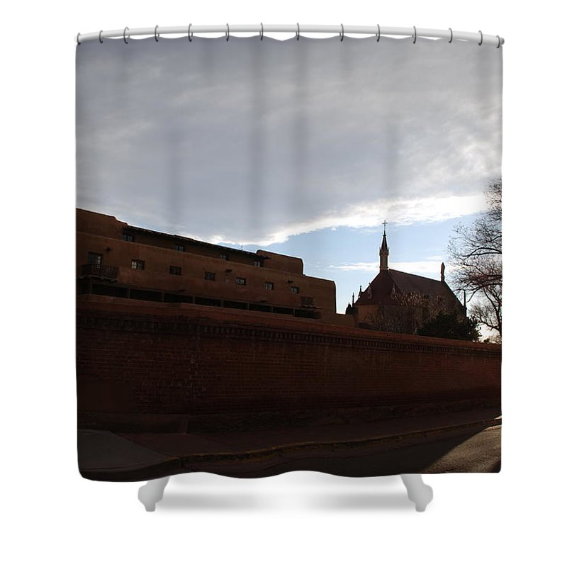 New Mexico Shower Curtain featuring the photograph Sun Thru The Trees by Rob Hans