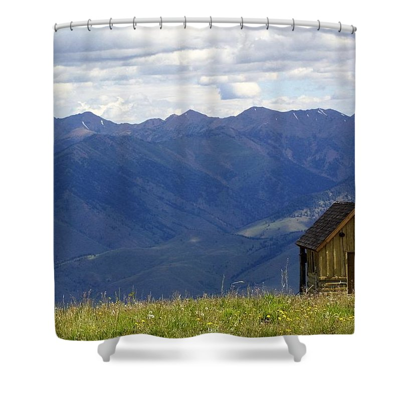 Landscape Shower Curtain featuring the photograph Sun Valley by Lisa Spero