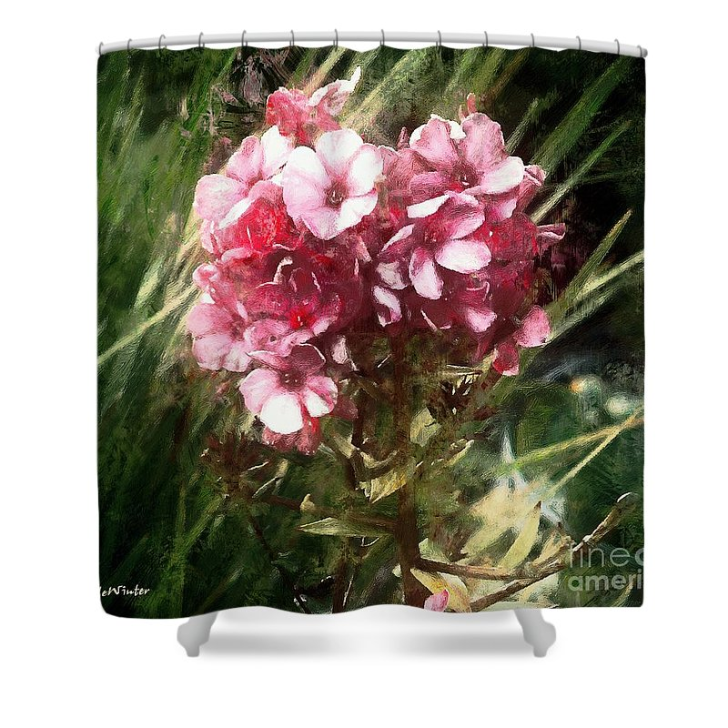 Flower Shower Curtain featuring the painting Sundappled by RC DeWinter