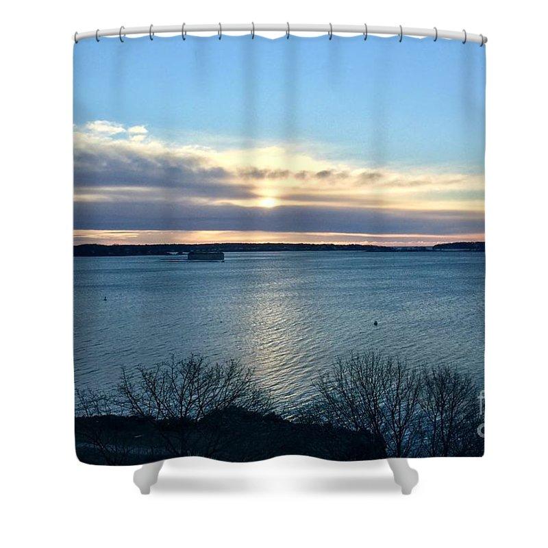 Casco Bay Shower Curtain featuring the photograph Sunday Sunrise On Casco Bay by Patricia E Sundik